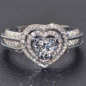 Heart Silver Promise Ring size 7